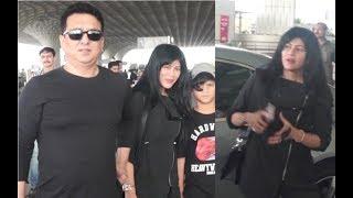 Sajid Nadiadwala With Hot Wife Wardha Khan At Mumbai Airport
