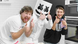 Spicy Hot Wing Challenge! ft. Nick Colletti and Casey Frey   Cooking with Marshmello