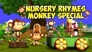 Popular 2016 English Rhymes for Children | Monkey Special | LIV Kids Nursery Rhymes and Songs | HD