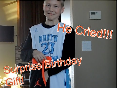 Surprising My Little Brother With Best Birthday Gift Ever!! (He Cried!)
