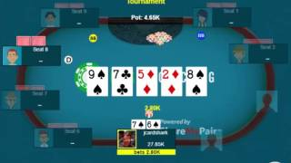 Betting for value and protection with middle pair in a multi-way pot