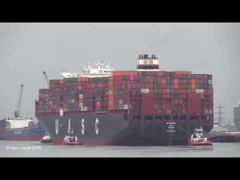 Xxx Mp4 UASC Container Ship AL DHAIL Arriving Southampton From The Netherlands 30 07 18 3gp Sex