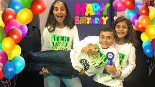 Indoor playground games surprise Birthday party!! kids fun video