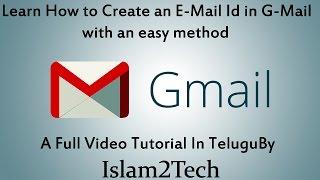 how to create E-Mail ( G-Mail ) Id in Telugu / Email Id ni ela Create cheyali
