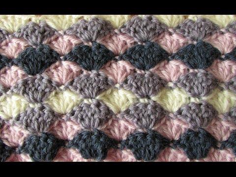 VERY EASY crochet shell stitch blanket - crochet blanket/afghan for beginners