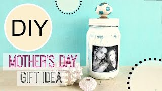 DIY Mother's Day Gift Idea - Cute Photo Jar | Michele Baratta