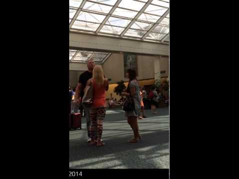 Saori meets Brock Lesnar & Sable at Orlando airport brocklesnar sable wwe wrestling thele