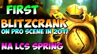 First Blitzcrank (duo w Mordekaiser) on pro scene in 2017 | NA LCS Spring FLY vs NV