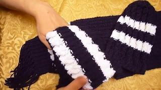 قبعة و سكارف تريكو بالضفيرة السحرية - Tricot Hat and scarf