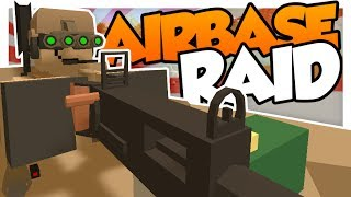 CRAZY AIRBASE RAID w/ Fudgy! Unturned Military Roleplay!