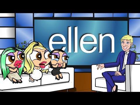 ELLEN Interviews The PLASTIC PUFF GIRLS (CARTOON)