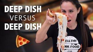 DEEP DISH PIZZA 🍕VS DEEP DISH PIZZA 🍕