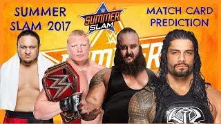Summer Slam 2017 Highlight Match Card Predictions
