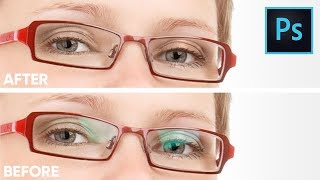 Remove Glare From Glasses Without Replacing Or Cloning In Photoshop