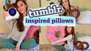 How To Make No Sew: Tumblr Inspired Pillows