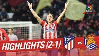 Resumen de Atlético de Madrid vs Real Sociedad (2-1)