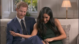 Prince Harry and Meghan Markle caught on camera joking around after engagement interview
