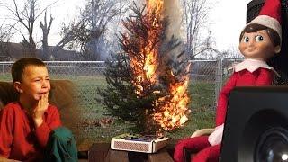 ELF ON THE SHELF CHRISTMAS FIRE PRANK