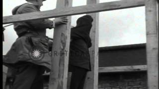 A Nazi war criminal is executed by method of hanging in Bruchsal, Germany for Wor...HD Stock Footage