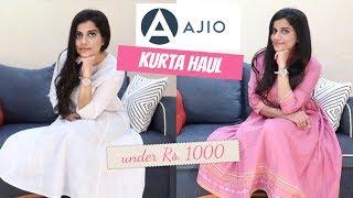 AJIO KURTA HAUL UNDER ₹ 1000 - ELEGANT & BEAUTIFUL   Sana K