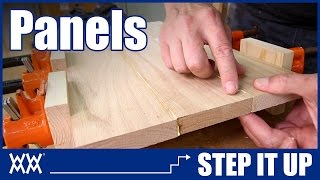 Need Wide Boards? How to make panels by edge joining lumber   STEP IT UP Woodworking