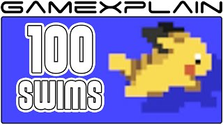 Super Mario Maker: All 100 Swim Animations (amiibo costumes)