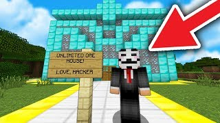 TURNING PLAYERS BASE INTO DIAMOND MANSION! ( Minecraft Trolling )