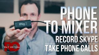 Best Way To Connect A Phone (iPhone, Android) To A Mixer.