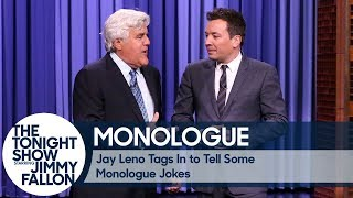 Jay Leno Tags In to Tell Some Monologue Jokes