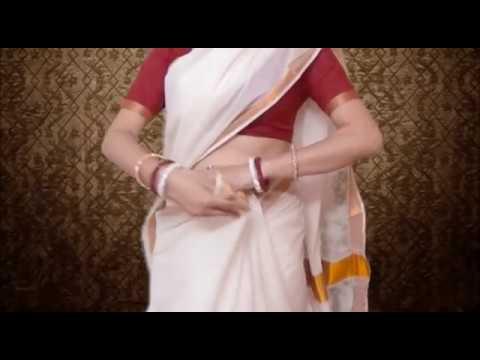 Kerala Wedding Saree Blouse Draping:Hot Kerala Sari-Choli Wearing