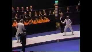 1984 Olympics, Men's Fencing, Individual Saber (part 1)