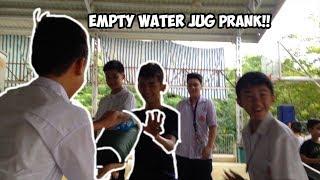 EMPTY WATER JUG PRANK!!