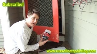 DIY- Repair Door with Bondo Auto Body Filler (Part 1)