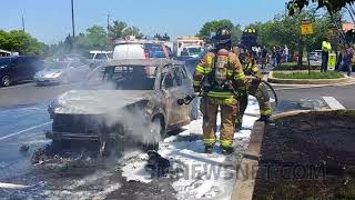 Two Injured in Vehicle Fire at Wildewood Shopping Center (2)