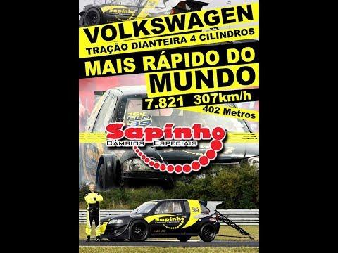 Novo VW Traçao Dianteira + Rápido do MUNDO 0 a 307km/h em 7.8s