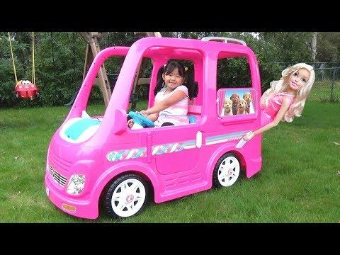 Xxx Mp4 Kid Buys A Giant Barbie Dream Camper Van Vehicle Ride On Power Wheel 3gp Sex