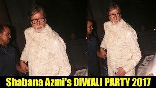 Amitabh Bachchan At Javed Akhtar And Shabana Azmi's Diwali Party 2017