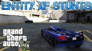 Grand Theft Auto V Challenges | ENTITY XF STUNT JUMPS | FASTEST CAR IN THE GAME?