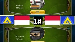 Head Soccer - How to Unlock Indonesia & Cyborg 1#