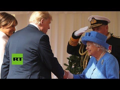 Xxx Mp4 La Reina Isabel II Recibe A Donald Y Melania Trump 3gp Sex