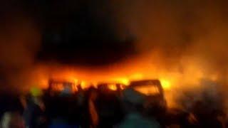 Major fire breaks out at scrap godown in Hyderabad | Bahadurpura | Kamatipura Police