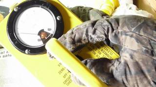 Victoreen CD V-717 radiation geiger meter video