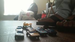 Toy car crush sandals