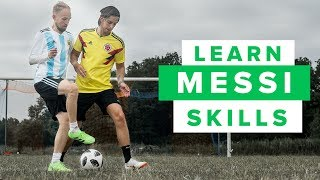 LEARN FIVE MESSI FOOTBALL SKILLS part 2   How to play like Lionel Messi