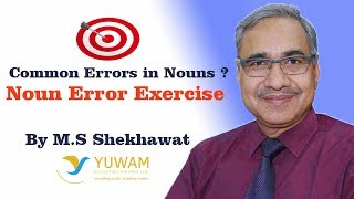 Common Errors in Nouns - Noun Errors Exercise for SSC Exam
