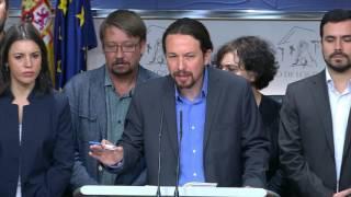 Pablo Iglesias anuncia moción de censura contra el Gobierno del PP