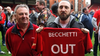 Leyton Orient fans furious with club's owner after relegation - video