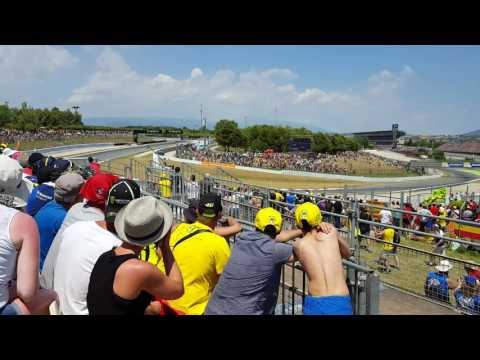 Valentino Rossi last two laps Catalunya 2016