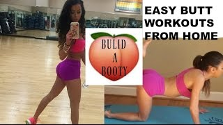 GROW A BOOTY FAST! EASY BUTT WORKOUTS FROM HOME