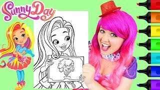 Coloring Sunny Day Salon Sunny Coloring Page Prismacolor Paint Markers | KiMMi THE CLOWN